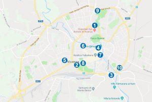 Mappa dei Parcheggi Vicenza